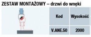 ZESTAW MONTAZOWY DRZWI DO WNEKI -  SANSWISS V.ANE.50 2000 50